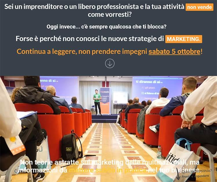 Locandina evento One Day Ultra Marketing One Day formazione, Pomezia 5 ottobre 2019