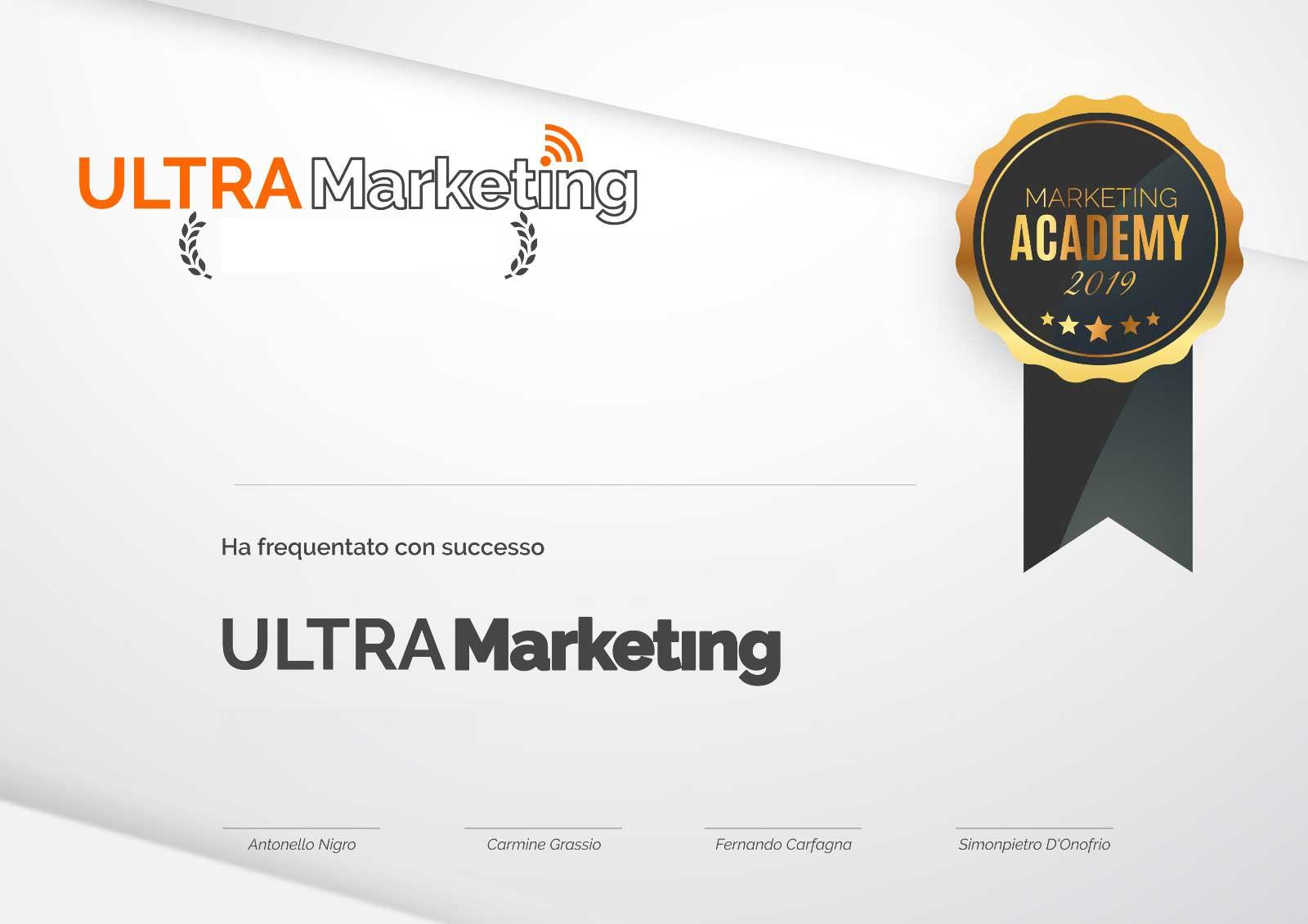 Attestato Ultra Marketing